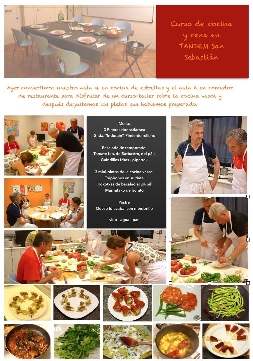 Curso De Cocina Pdf Of Tandem San Sebasti N Noticias